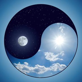yin-yang dark light